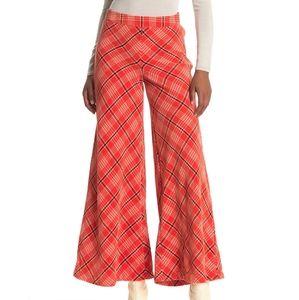 Free People Wonderland Plaid Pants